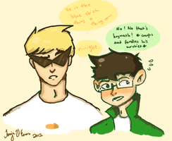 Jake and Dirk... by chessy-cat