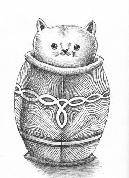 Cat in a Pot by Stuifie