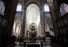 Beautiful Inside of Brugge Cathedral 2 by Lissou-photography