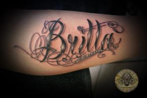 chicano lettering new by 2Face-Tattoo