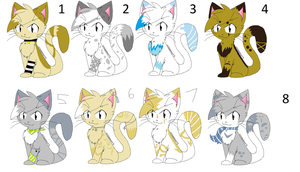 6 point kitty adopts by Icey-adopts