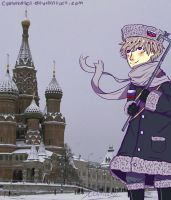 Hetalia: Russia and St. Basil's Cathedral by CipeHeheLOL