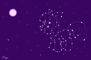 EQ ATG: Draw a pony in Space by TanMansManTan