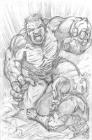 Hulk vs. Cap by pycca