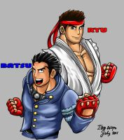 Batsu and Ryu by IzIzIza