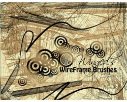 Winged's WireFrame Brushes by Wi-ng-ed
