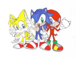 Chibi Team Sonic by mushydog