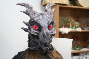Alduin fursuit mask 2 Open Mouth by BlueEyes9