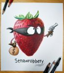 Straw-Robbery Drawing by AtomiccircuS