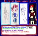 Point Commission prices! by LittleWhiteAngelWolf