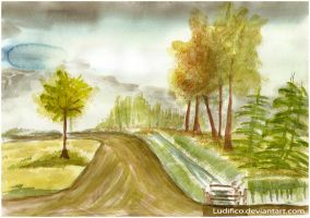 The Road Near My Home by Ludifico