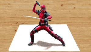 3D Colored Pencil Drawing: Deadpool by JasminaSusak