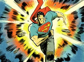 Superman in ACTION by danmcdaid