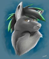 Spike headshot commission by kwinzilla