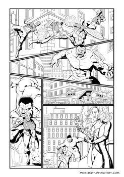 Hulk page 2 (of 3) by Mike-Bunt