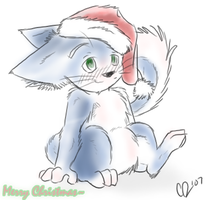 Christmas Kitty by affy-hedgefoxbat