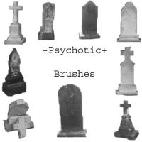 Grave brushes by Psycotic-stock
