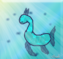 Aqua Llama by Noah-is-1337-at-art