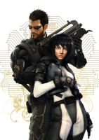 Motoko and Adam by kcgallery
