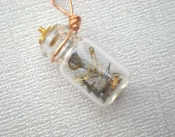 Tiny Robot in a Glass Vial by rowan300
