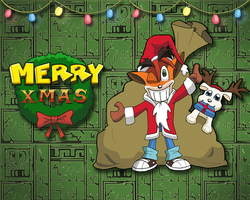 Crash Xmas Wallpaper by E-122-Psi