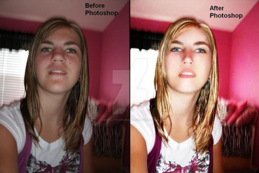 Extreme Photoshop (Before and After) by SexyLittlePanda