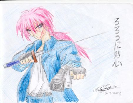 Midnight Moon Kenshin: Colored by battousaix