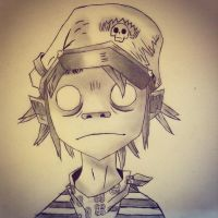 2D from the Gorillaz by WolfODonnellover