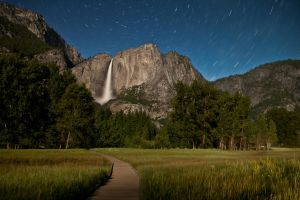 Yosemite Falls and Stars by Niv24
