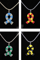 Hogwarts Scarf Necklaces by egyptianruin