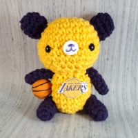 Lakers Kobe Bryant bear by amigurumikingdom