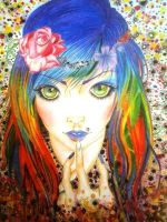 Psychedelic Girl :) by AyameNasai