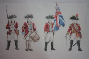 Sheep British Redcoats Study by Shasiel