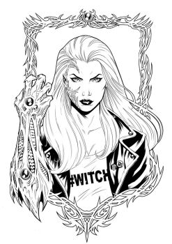 Cover Witchblade #182 byn by maanhouse
