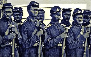 Men of Company E, 4th U.S. Colored Infantry by ziegfeldfollies