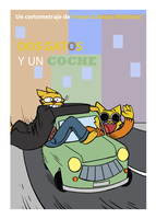 Two cats and a car by fecama