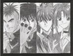 flame of recca group fanart by hitome