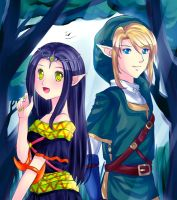 Commission: Hirumi and Link by Miriki-Chi