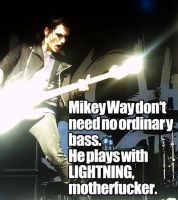 Mikey Way plays with Lighting by IloveMCRandMSI