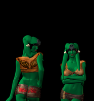 Green twilek front and back by damanname