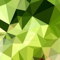 Electric Lime Green Abstract Low Polygon Backgroun by apatrimonio