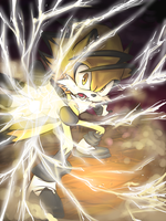 Lightning attack by Merokosart