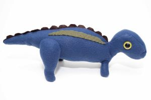 Baby Maiasaura in blue gray by Paleogirl