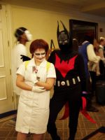 Batman Beyond and Nurse Joker by Devain