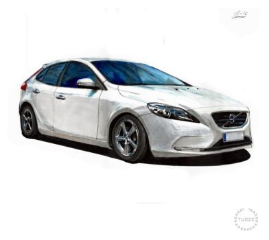 Commission work: Volvo V40 by Tuoze