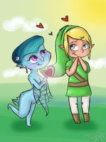 Princess Ruto and Link by tSTARylor