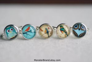 Dainty Birds Ring Collection by MonsterBrandCrafts