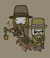 V and Rorschach by drwarumono