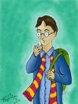 Digital Art - Harry Potter by dr-malar