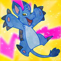 Neopets - Blue Bori by nyausi